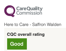 Here To Care Has A CQC Overall Rating Of Good